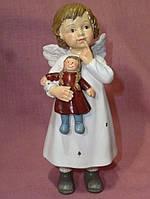 Ангел керамический с куклой 15см. высота