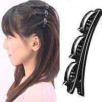 Заколка для волос уточка с тремя зажимами