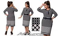 Женское элегантное платье в расцветках больших размеров, размеры 52, 54, 56, 58, 60, 62