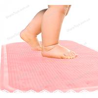 Антискользящий коврик на дно ванной для детей  розовый