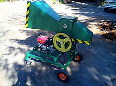 Измельчитель веток 90-Д (с бензиновым двигателем 16 л.с. на колесах) , фото 3