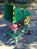 Измельчитель веток 90-Д (с бензиновым двигателем 7 л.с. на колесах)