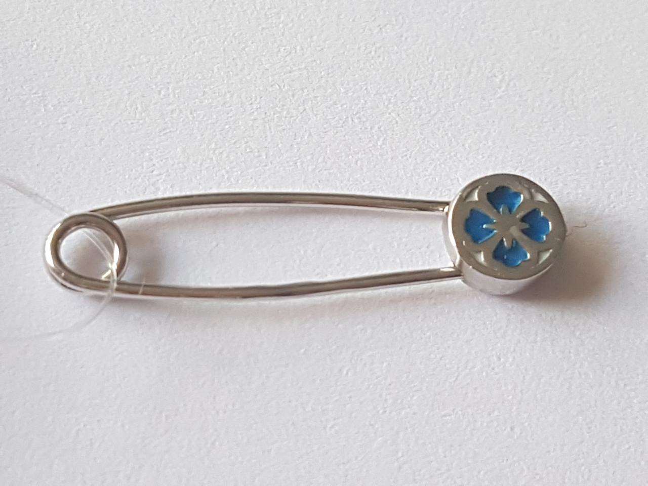 Серебряная брошь Цитрус с эмалью. Артикул 904-00631