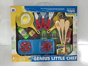 Газова плита дитяча з набором посуду