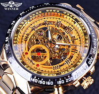 Механические часы с автоподзаводом Winner (gold)
