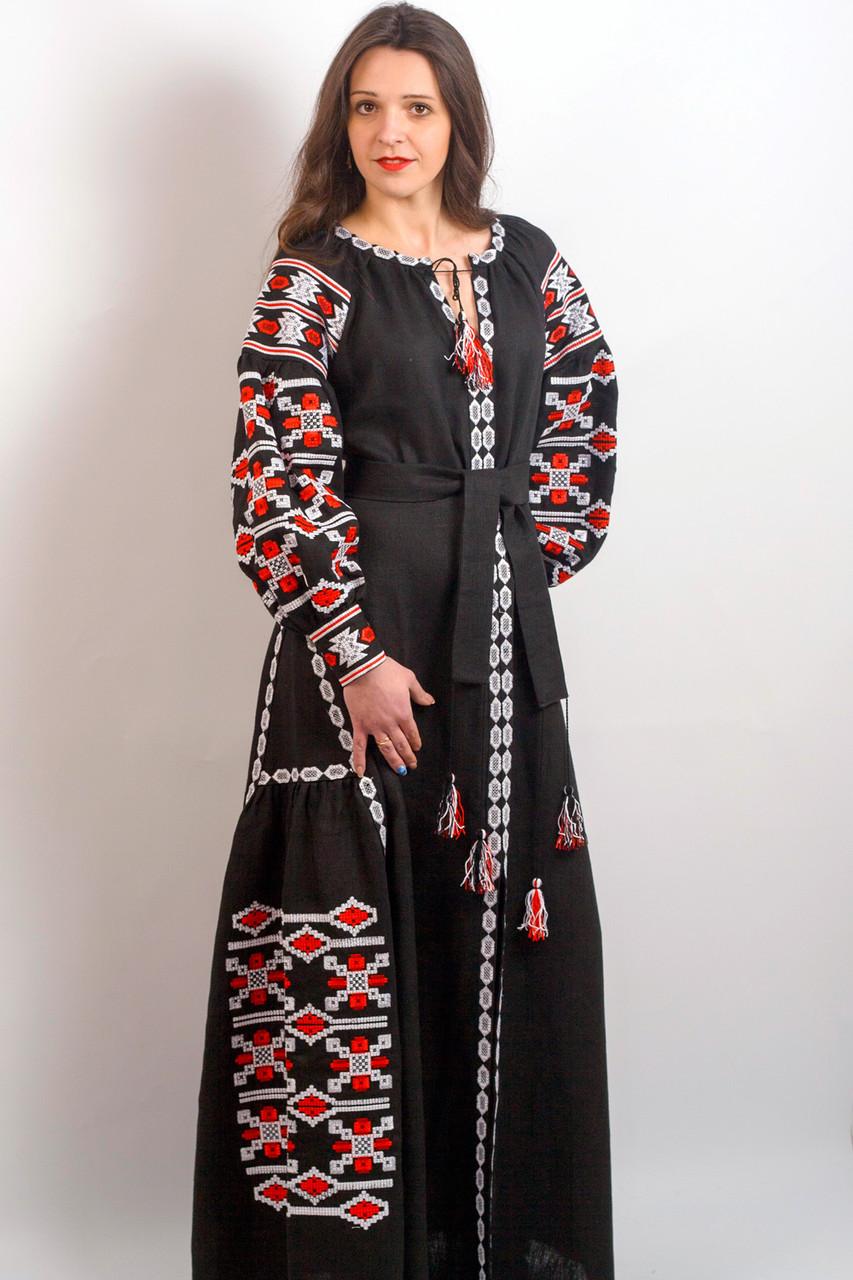 343ec3f540f Женское вышитое платье в пол ГРАЦИЯ в этническом стиле размера 42 ...