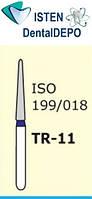 Боры TR-11 - синий конусообразный, закруглённый кончик, MANI (3 шт.), фото 1