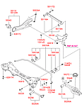 Втулка стабилизатора заднего id=15,8 mm Hyundai I30 2007 - 2010 ОЕМ 55513-2L000 полиуретан, фото 2