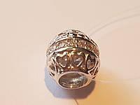 Серебряная подвеска-шарм Признание в любви с фианитами. Артикул 903-00765
