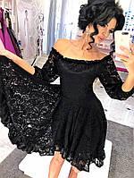 Платье из кружева асимметричный фасон «Каскад»