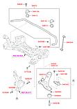Втулка стабілізатора заднього id=22мм Kia Sorento 2015 ОЕМ 54813-3S110 поліуретан, фото 2