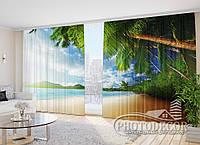 """Фото Шторы в зал """"Райский уголок"""" 2,7*5,0м (2 полотна по 2,5м), тесьма, фото 1"""