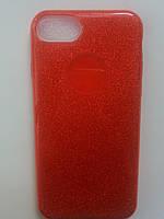 Силиконовая накладка Gliter для Iphone 6/6S (Red)