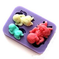 Молд силиконовый три младенца, фото 1