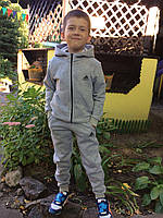 """Детский теплый спортивный костюм для мальчика с начесом  """"Адидас"""""""