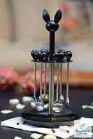Berghoff 3800001 Lover by Lover Набор кофейных ложек 7пр на подставке НОВИНКА 2014