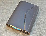 Обложка для блокнота формат А5 с клапаном на магните из натуральной кожи ручной работы