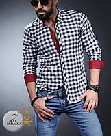 Стильная байковая рубашка с длинным рукавом-трансформером (Турция)