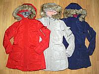 Пальто зимние на меху на девочек оптом, Grace, 8-16 рр