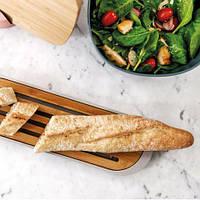 Доска для нарезки хлеба с поддоном BergHOFF 3950061 LEO 37 х 11 х 2 см