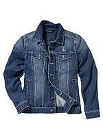 Куртка мужская джинсовая Mercedes Embroidered Denim Jacket, Men, Jeans Blue, Trucker