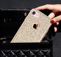 Силиконовая накладка Gliter для Iphone 6S Plus (Gold), фото 1
