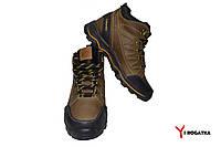 Подростковые зимние кожаные ботинки, Columbia, оливковые, водоотталкивающие