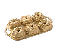 Форма для выпечки печенья Nordic Ware 91237 Bundtlette gold 36,3х21,3х4 см