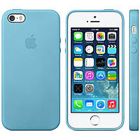 Кожаный чехол Apple Leather Case IPHONE 5/5S/SE ( Light Blue)