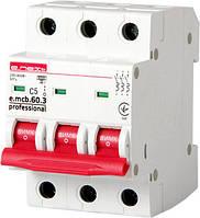 Модульный автоматический выключатель e.mcb.pro.60.3.C 5 new, 3р, 5А, C, 6кА new, фото 1