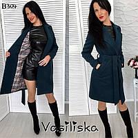 Женское короткое кашемировое пальто