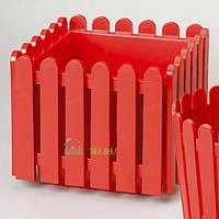 EMSA EM512688 Квадратный горшок для цветов LANDHAUS 38 см. (Красный)