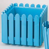 Вазон для цветов квадратный LANDHAUS 38 см. (Бирюзовый) EMSA EM512689