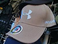 Брендовая бейзболка Under Armor бежевая
