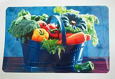 Салфетка для сервировки стола и украшения интерьера с овощами,  28см*40см, серветка водонепроникна