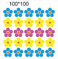 Магнитный стенд для крепления рисунка магнитом Цветы