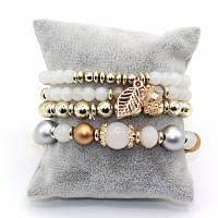 Набор стильных женских браслетов 4 шт.