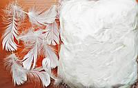 Перья белые для декорирования (120 шт, 5-10 см)