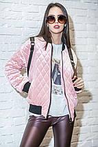 Женская велюровая короткая куртка с карманами, фото 3