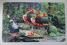 Салфетка-подставка на стол и полочку Арбуз,  28см*40см, серветка миюча під посуд