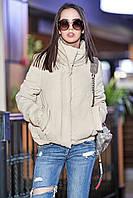 Женская осенняя короткая куртка с воротником стойкой