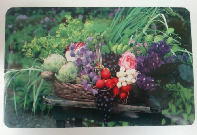 Салфетка для сервировки стола и украшения интерьера с овощами,  28см*40см, серветки, сети, фото 2