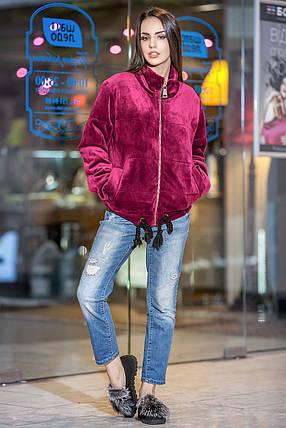 Осенняя короткая бархатная куртка с утеплителем, фото 2