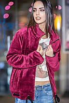 Осенняя короткая бархатная куртка с утеплителем, фото 3