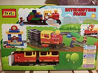 Конструктор для малышей Jixin 6188 B Мой первый поезд / Железная дорога 91 дет (0438) аналог Лего Дупло