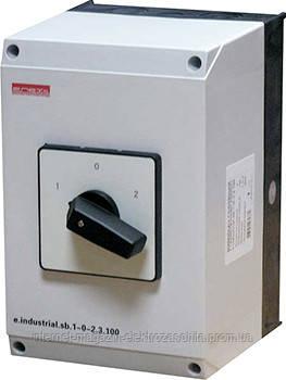Пакетный переключатель в корпусе e.industrial.sb.1-0-2.3.20, 3р, 20А (1-0-2), фото 1