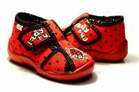 Тапочки детские  для девочек красные 3F Zabka 22 (14см), фото 1