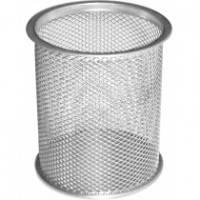 Подставка для ручек настольная круглая серебристая Optima (O36301-10)