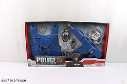 Полицейский набор с бронежилетом муз.свет. (278)