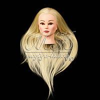Учебная голова 20% натуральных волос, длина 65-70 см